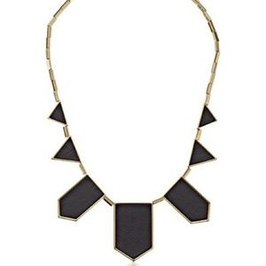 House of Harlow station necklace - black and gold